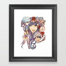 Pintsizevillan portrait Framed Art Print