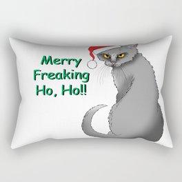 Merry Freaking HO HO!! Rectangular Pillow