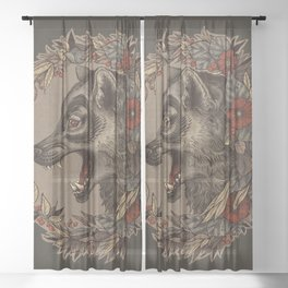 A Little Wolf Moon Sheer Curtain