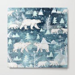 Ice Bears Metal Print