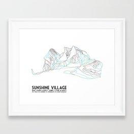 Sunshine Village, Alberta, Canada - Minimalist Trail Art Framed Art Print
