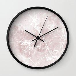 Vintage elegant brown white rustic marble Wall Clock