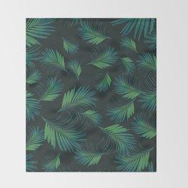 Tropical Night Palms Pattern #1 #tropical #decor #art #society6 Throw Blanket