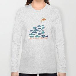 Seek Discomfort Fish Long Sleeve T-shirt