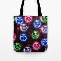 monsters Tote Bags featuring Monsters by CLE.ArT.