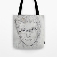tyler spangler Tote Bags featuring Tyler Oakley by EleanorOrchard