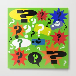 Question mark graphic collage Metal Print