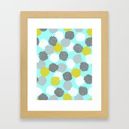 Block Printed Floral Framed Art Print