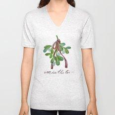 Under  the Mistletoe botanical  Unisex V-Neck