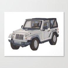 Jeep Wrangler 2012 Canvas Print