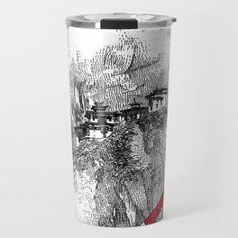 asc 164 - The Red Baron & Newton I (Le château des nuages) Travel Mug