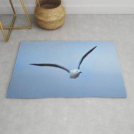 Seagull in flight Rug