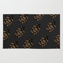 Black Pinecone Pattern Rug