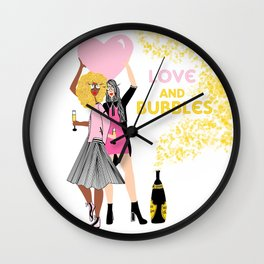 Love and Bubbles Wall Clock