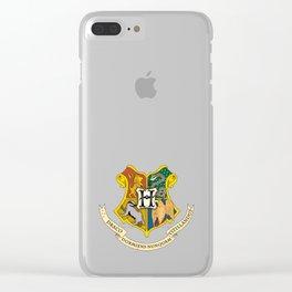 Hogwarts Logo Clear iPhone Case
