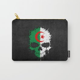 Flag of Algeria on a Chaotic Splatter Skull Carry-All Pouch