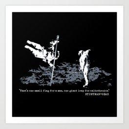 Space Calisthenics Art Print