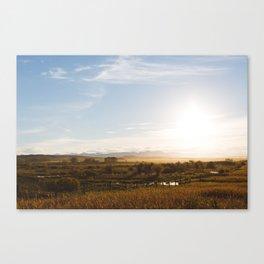Alberta foothills sunset Canvas Print