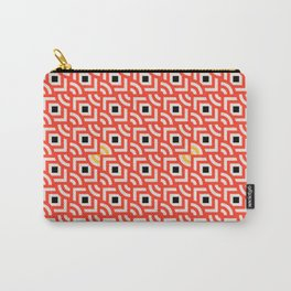 Round Pegs Square Pegs Red-Orange Carry-All Pouch