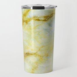 Marble with Yellow Threads Travel Mug