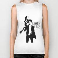 darren criss Biker Tanks featuring Darren Criss with guitar! by byebyesally