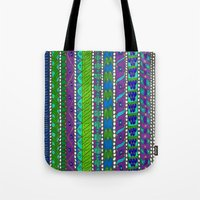greece Tote Bags featuring Greece by Kimberly McGuiness
