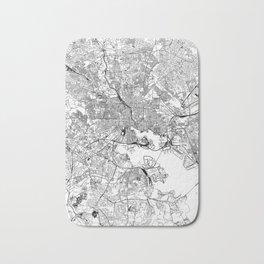 Baltimore White Map Bath Mat
