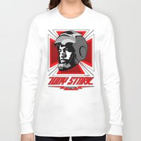 stark Long Sleeve T-shirts featuring Tony Stark by Ant Atomic
