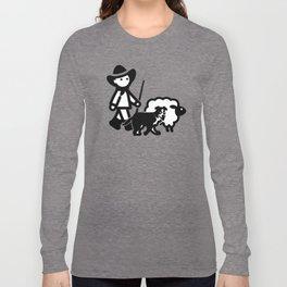 Cartoon Sheep Shepherd Boy Long Sleeve T-shirt