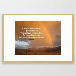 Love One Another -- John 13:34 Framed Art Print