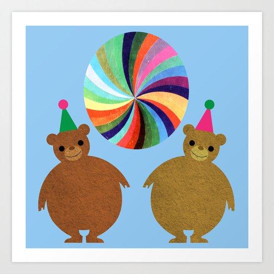Circus Bears II Art Print