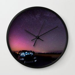 Nocturnal Subaru Wall Clock