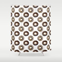 Donut Polka Dot Pattern Shower Curtain