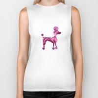 poodle Biker Tanks featuring pink poodle by 1 monde à part