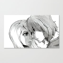 The Moment Before a Kiss Canvas Print
