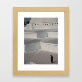 Monk in Nepal Framed Art Print