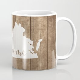 Virginia is Home - White on Wood Coffee Mug