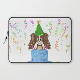 Happy Birthday With Cavalier King Charles Spaniel And Cake Laptop Sleeve