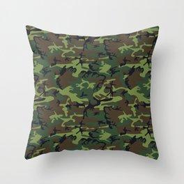 U.S. Woodland Camo Throw Pillow