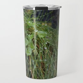 Dew Covered Coastal Plants on the Cliffs Travel Mug