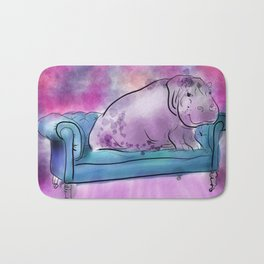 animals in chairs #9 variations on a theme Hippo Bath Mat