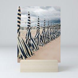 retro beach Mini Art Print