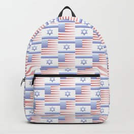 Mix of flag : usa and israel 2 with color gradient Backpack
