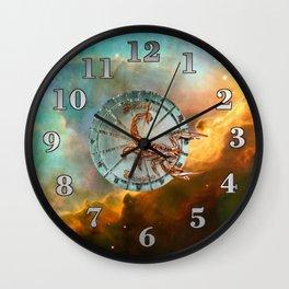 Scorpio and Nebula Wall Clock