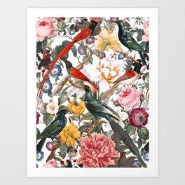 Floral and Birds XXXV Art Print