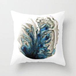Blue Brain Throw Pillow