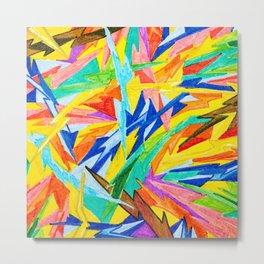 Rainbow Bolts Metal Print