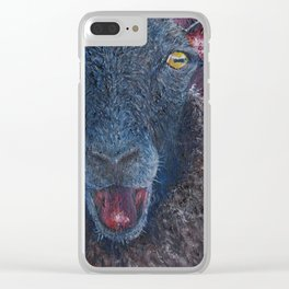 The Happy Black Sheep Clear iPhone Case