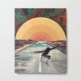 Street Surfing Metal Print