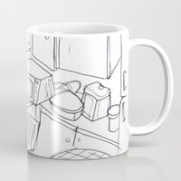 kitchen Mugs featuring Kitchen by Frances Roughton